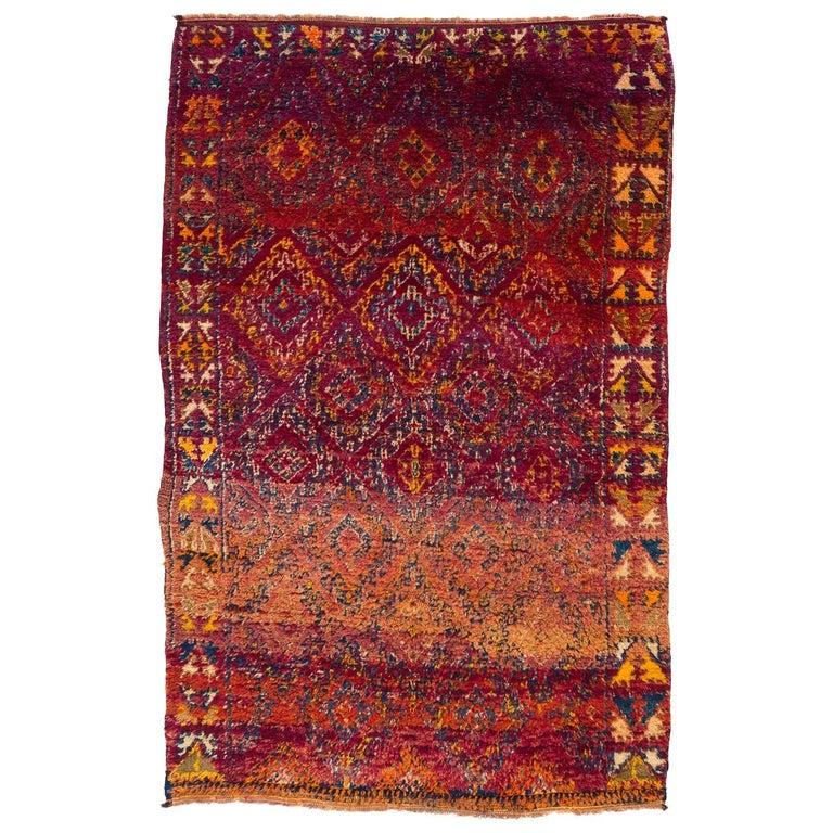 Vintage Moroccan Beni Mguild Berber Rug