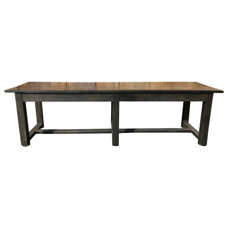 An early 19th century hog butchering collapsible work for Extra long farmhouse table