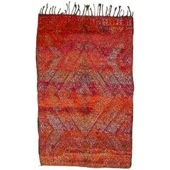 Vintage Beni Mguild Moroccan Berber Rug 6x9.6