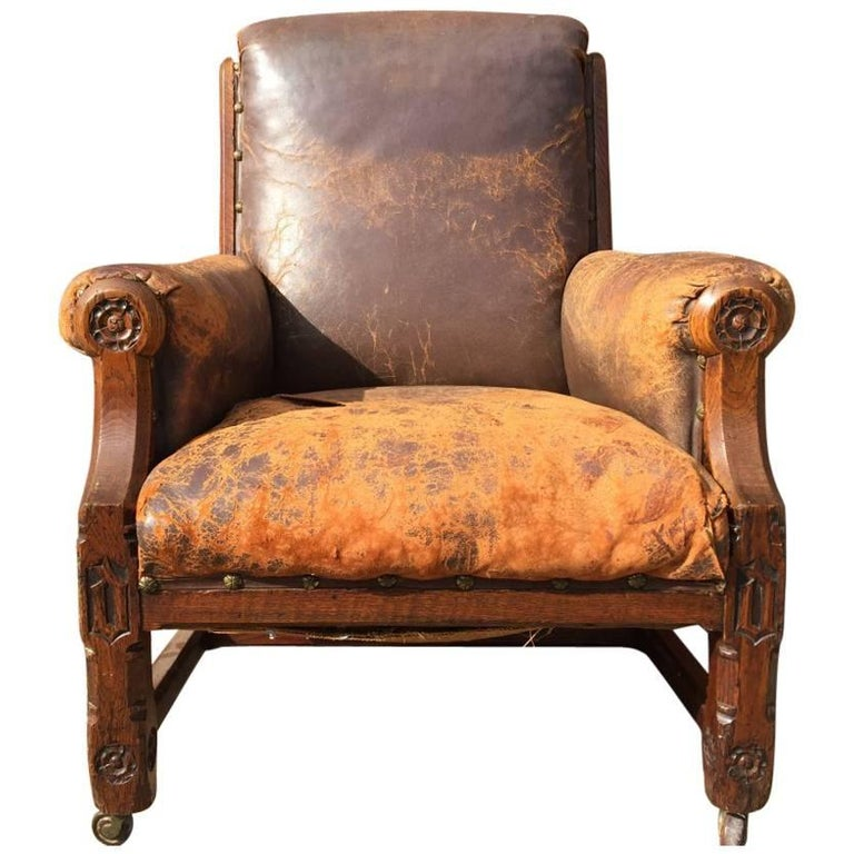 A W N Pugin, A Rare Oak Armchair Probably Designed for the Speaker's House For Sale