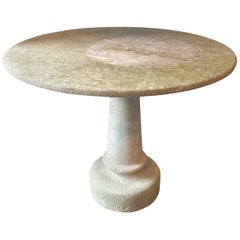 Antique Concrete Gueridon/Foyer Table