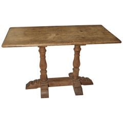 French Oak Bistro or Restaurant Table, Mid-1900s