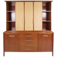 Impressive Two-Piece Sideboard with Hutch by John Stuart