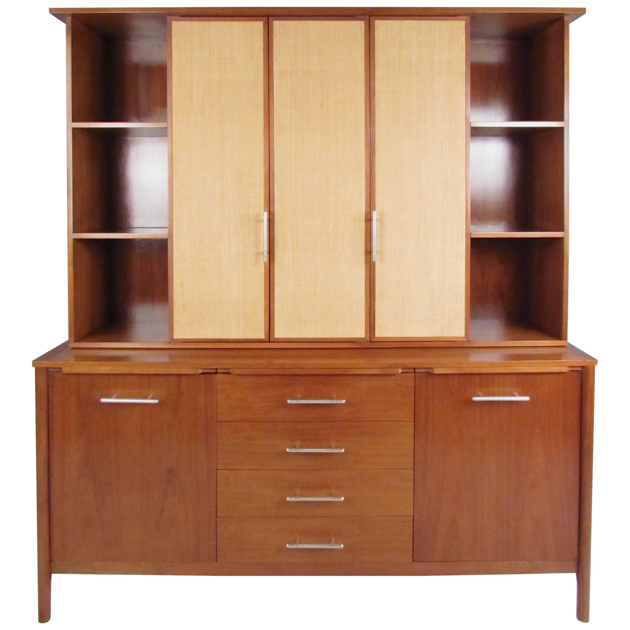 Sideboard And China Cabinet Hutch By James Bouffard For Drexel For Sale At  1stdibs