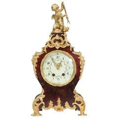 Large Antique French Ormolu-Mounted Clock, Neptune and Dolphin