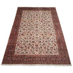 Fine Wool and Silk Persian Tabriz Rug, circa 2000