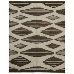 Contemporary Moroccan Rug with Modern Geometric Design