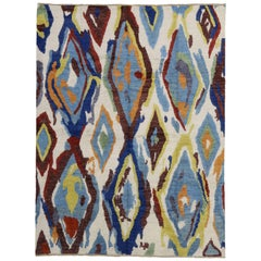 Modern Moroccan Rug with Contemporary Abstract Design