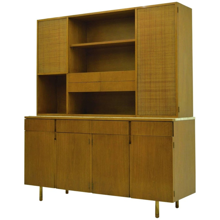 Fine Two-Part Cabinet by Bert England for Johnson Furniture Forward Trend