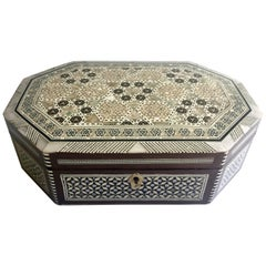 Mother-of-Pearl Jewelry Box, Octagon Box
