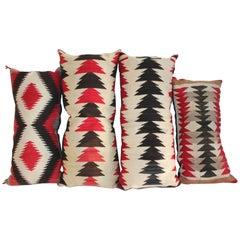 Navajo Weaving Bolster Pillows / Collection of Four