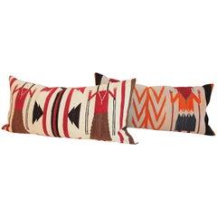 Two Navajo Yea Indian Weaving Pillows
