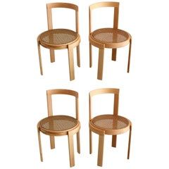 Italian Bentwood Cane Chairs in Natural Beech