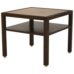 Fine Two-Tone Occasional or End Table by Dunbar in Walnut