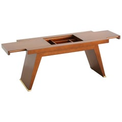 French Coffee Table with Sliding Top and Inner Compartment