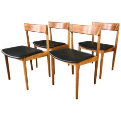 Set of Four Rosengren Hansen Model 39 Teak Dining Chairs