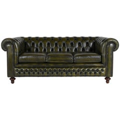 Vintage Chesterfield-Style Sofa