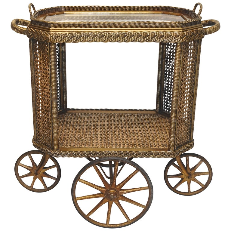 Heywood Bros. Wakefield Co Drinks Cart, Original For Sale