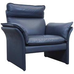 Dreipunkt Designer Chair Leather Blue Grey Couch Modern