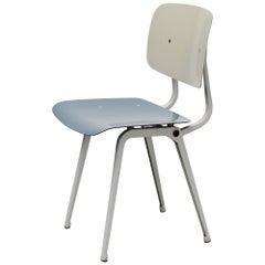 Friso Kramer Revolt Chair Ahrend de Cirkel, 1953 in Grey Blue Grey Color