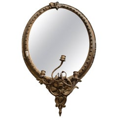Antique Gilt Girandole Mirror