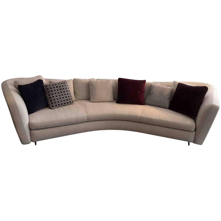 Sofa Seymour By Manufacturer Minotti In Aluminum Finished In Fabric At 1stdibs