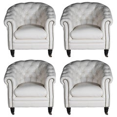 Set of 2 Chesterfield Club Armchairs, Lounge Armchairs, Italy