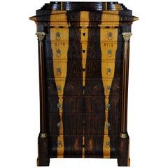20th Century Biedermeier Style Chiffonier or Pillar Chest