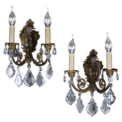 20th Century Pair of Baroque Sconces / Applique, circa 1930