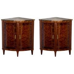 Louis-Seize Corner Cabinets, 18th Century