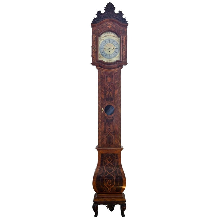 Grandfather Clock, Southern Germany 18th Century For Sale