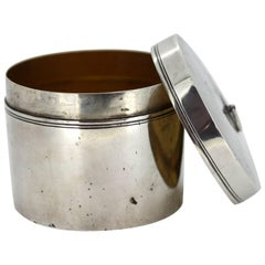 Antique Russian Solid Silver Tea Caddy, Made in St Petersburg, 1788