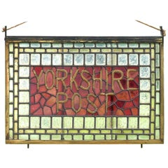 Yorkshire Post Stained Glass Brass Window