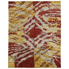 New Contemporary Moroccan Rug with Abstract Expressionism & Post-Modern Style
