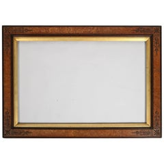 Antique Aesthetic Movement Mission Ebonized and Gilt Walnut Frame, 20th Century