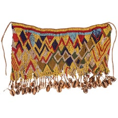 Mid-20th Century Tribal Beaded Cache-Sex Modesty Apron, Cameroon
