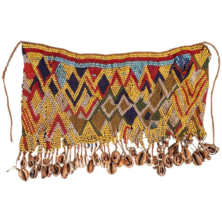 Mid-20th Century Beaded Cache-Sexe Modesty Apron, Cameroon