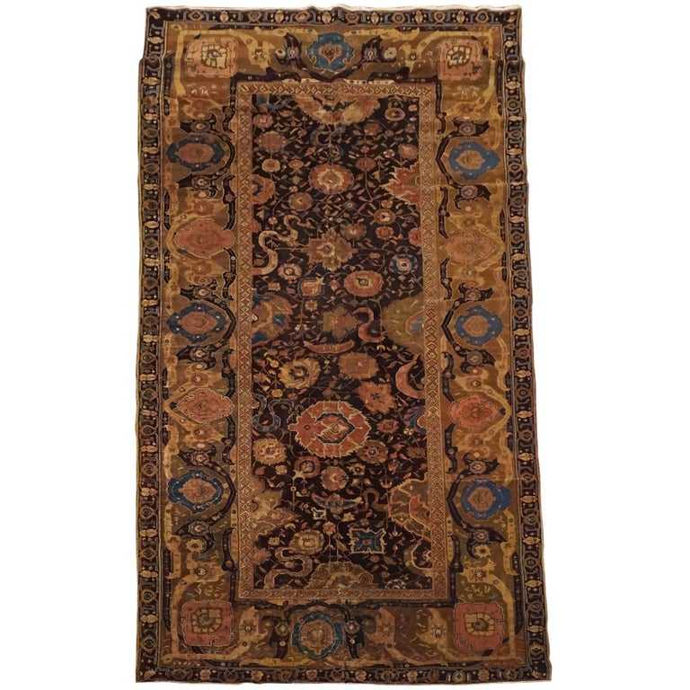 Antique Cotton Agra Rug With Abrash Circa 1900 For Sale: Antique Indian Agra Gallery Runner, Circa 1880 For Sale At