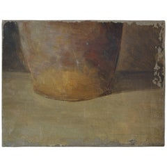 Small French Jug Still Life Oil on Canvas, circa 1920