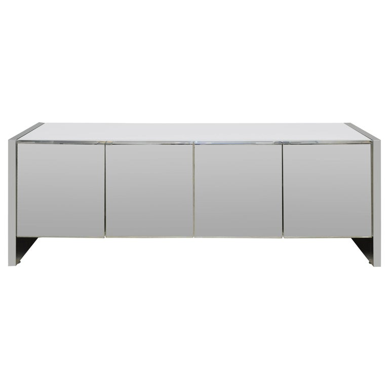 Ello Mirrored Chrome Credenza
