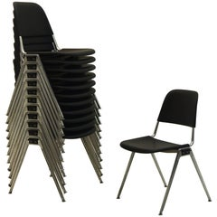 Set of 12 Tandem Stacking Seats by Don Albinson for Knoll