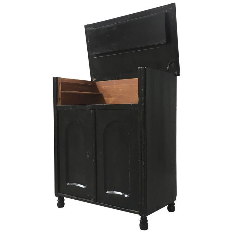 Black antique european dry bar cabinet for sale at 1stdibs for Home dry bar furniture
