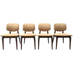 Midcentury Teak Dining Chairs, Set of Four