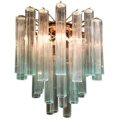 Murano Tube Chandelier from the 1970s