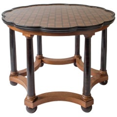 David Blomberg Attributed, Swedish Oak and Ebonized Birch Center Table