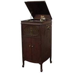 Antique Brunswick Victrola in Mahogany Cabinet