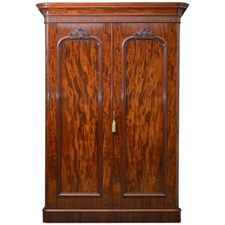 Victorian Mahogany Two-Door Wardrobe
