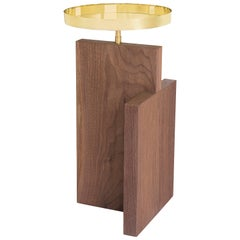 Side Table in Walnut and Brass, Mondai Collection