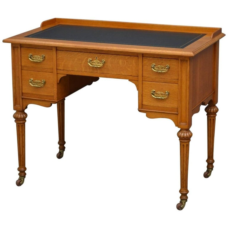 Victorian Oak Writing Table For Sale At 1stdibs