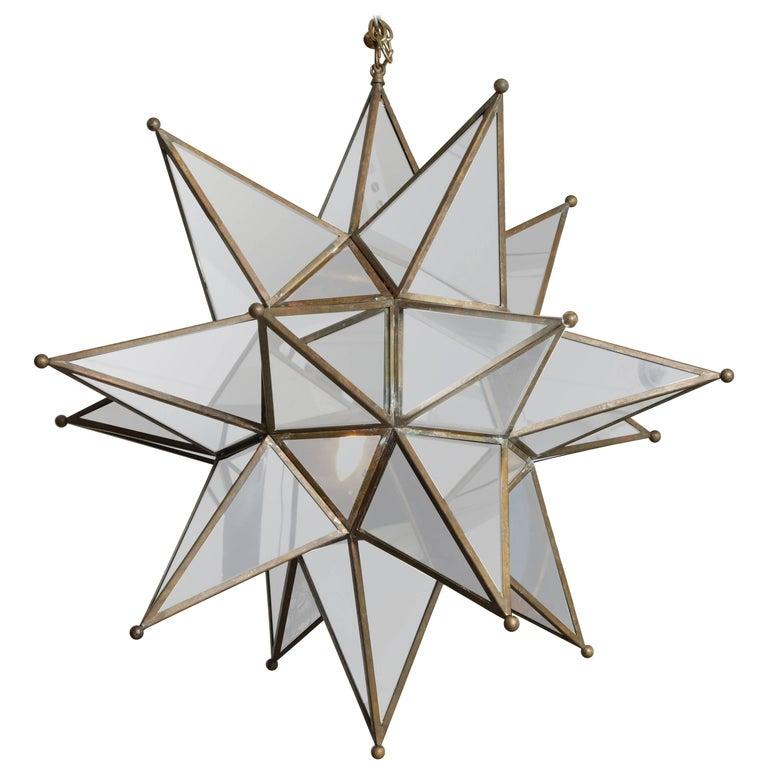 Grand Mirrored Starburst Pendant Light